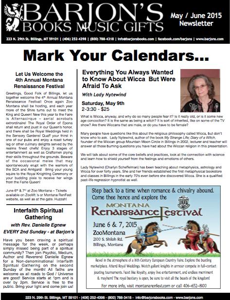 Barjon's May-June 2015 Newsletter