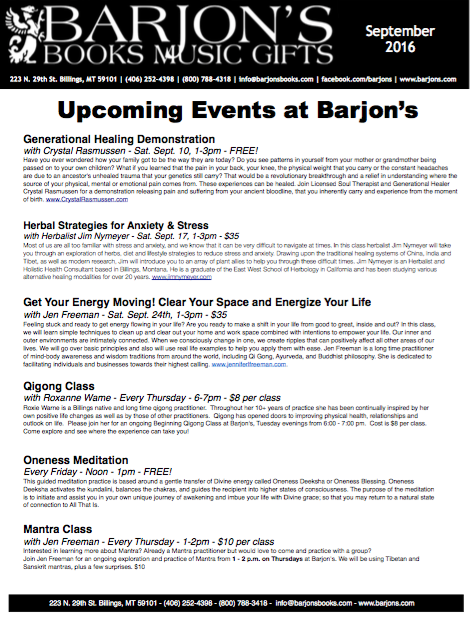 Barjon's May-June 2016 Newsletter