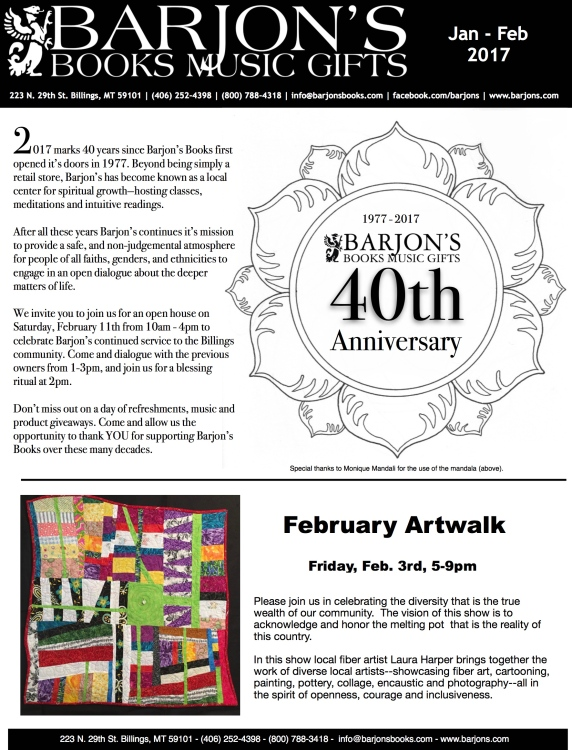 January - February 2017 Newsletter